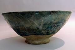 The Blue Bowl Ceramic Kashan   (1100 to 1300 AD) 19.75 cm X 9.25 cm